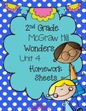 Wonders 2nd Grade Unit 4 Homework Sheets