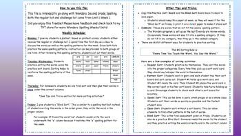 Wonders 2nd Grade Unit 4 Spelling Word Sort Bundle