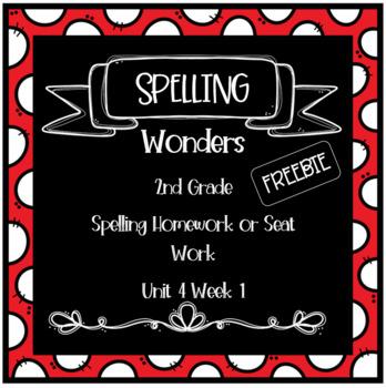 Wonders 2nd Grade Unit 4 Week 1 Homework or Seat Work FREEBIE