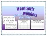 Wonders 2nd Grade Unit 4 Week 1 Spelling Word Sort