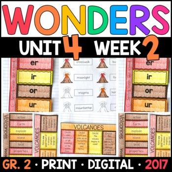 Wonders 2nd Grade, Unit 4 Week 2: Volcanoes Interactive Supplements