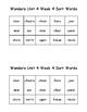 Wonders 2nd Grade Unit 4 Week 4 Spelling Word Sort