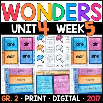 Wonders 2nd Grade, Unit 4 Week 5: April Rain Song & Rain Poem Supplements