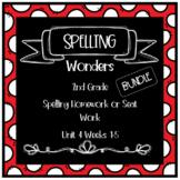 Wonders 2nd Grade Unit 4 Weeks 1-5 Homework or Seat Work BUNDLE