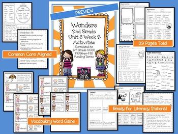 Wonders 2nd Grade Unit 5 Activities Week 2