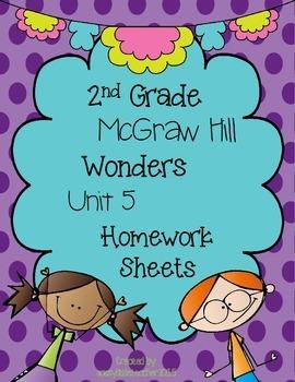Wonders 2nd Grade Unit 5 Homework Sheets