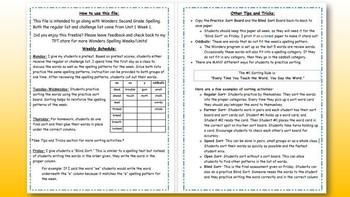 Wonders 2nd Grade Unit 5 Spelling Word Sort Bundle