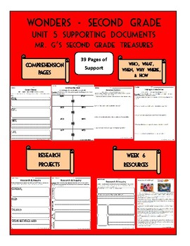 Wonders 2nd Grade Unit 5 Supporting Documents