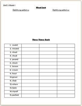 Wonders 2nd Grade Unit 5 Week 1 Homework or Seat Work FREEBIE