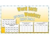 Wonders 2nd Grade Unit 5 Week 4 Spelling Word Sort