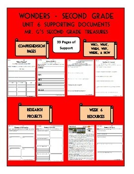 Wonders 2nd Grade Unit 6 Supporting Documents