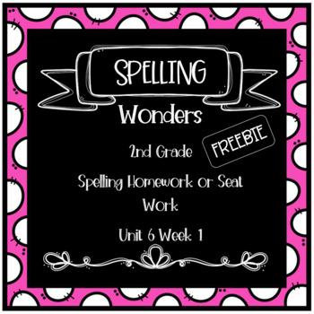 Wonders 2nd Grade Unit 6 Week 1 Homework or Seat Work FREEBIE