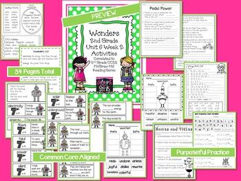 Wonders 2nd Grade Unit 6 Week 2 Activities