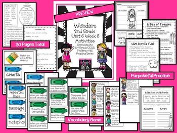 Wonders 2nd Grade Unit 6 Week 5 Activities