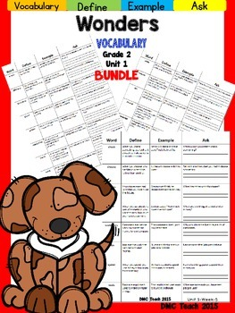 Wonders 2nd Grade Vocabulary Bundle Unit-1