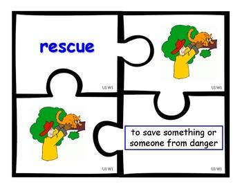 Wonders (2nd) Grade Vocabulary Puzzles Units 1 - 6