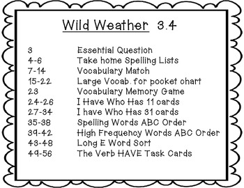 mcgraw hill wonders 2nd grade wild weather 3 4 7 literacy activities. Black Bedroom Furniture Sets. Home Design Ideas