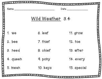 McGraw Hill Wonders 2nd Grade Wild Weather 3.4 {7 Literacy Activities}