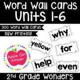 Wonders 2nd Grade Word Wall Cards Unit 1