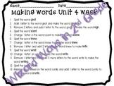 Wonders 2nd Grade Word Work Activities for Unit 4