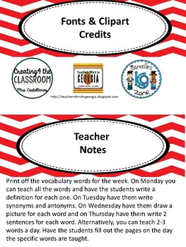 Wonders 2nd grade Vocabulary Unit 1 Week 3