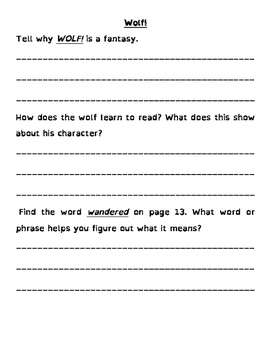 Wonders 3rd Grade Anthology Questions (All 6 units - 60 pages)