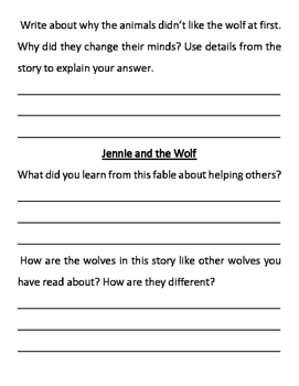 Wonders 3rd Grade Anthology Questions (Unit 1 SAMPLE - 10 pages)