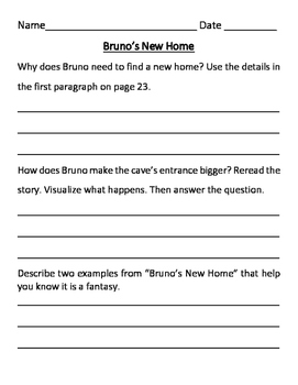 Wonders 3rd Grade Comprehension Questions (Unit 1 SAMPLE) by varkgirl