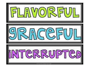 Wonders 3rd Grade Focus Wall Vocabulary Display - Unit 4