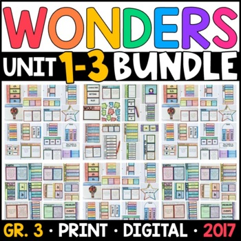 Wonders 3rd Grade HALF-YEAR BUNDLE: Units 1-3 (Interactive Pages & Supplements)