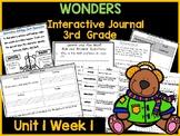 Wonders 3rd Grade Interactive Journal Unit 1 -Week-1