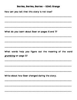 Wonders 3rd Grade Leveled Reader ?s - Approaching Level (all 6 units - 60 Pages)