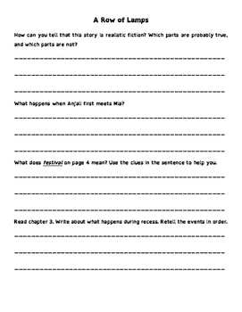 Wonders 3rd Grade Leveled Reader Questions - On Level (Unit 1 SAMPLE - 10 pages)