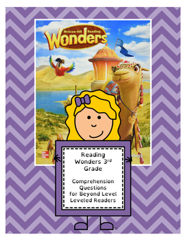 Wonders 3rd Grade Leveled Reader ?s - Beyond Level (all 6 units - 60 Pages)