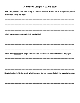 Wonders 3rd Grade Leveled Reader ?s - On Level (all 6 units - 60 Pages)