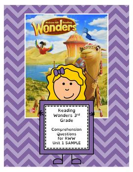 Wonders 3rd Grade Reading/Writing Workshop Questions (Unit