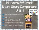 Wonders 3rd Grade: Short Story Booklets Unit 1 - Printable & Digital