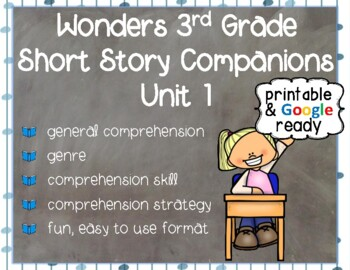 Wonders 3rd Grade: Short Story Booklets Unit 1