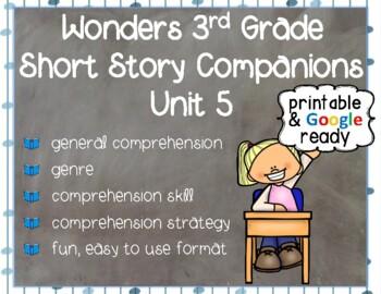 Wonders 3rd Grade: Short Story Booklets Unit 5