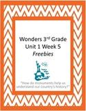 Wonders 3rd Grade U1W5 Activities