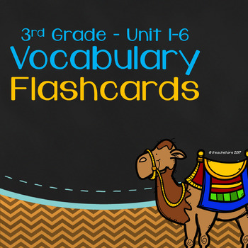 Wonders 3rd Grade Unit 1-6 Bundled Vocabulary Flashcards