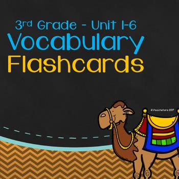 Wonders 3rd Grade Unit 1-6 Bundled Vocabulary Flashcards