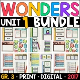 Wonders 3rd Grade Unit 1 BUNDLE: Interactive Notebook Pages and Supplements