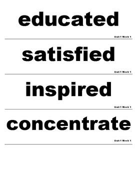 Wonders 3rd Grade Unit 1 Vocabulary Cards