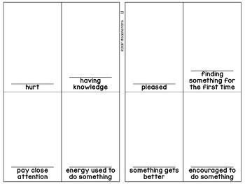Wonders 3rd Grade Unit 1 Vocabulary Illustration Sheets