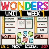 Wonders 3rd Grade, Unit 1 Week 1: WOLF! Supplements with G