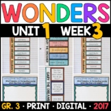 Wonders 3rd Grade, Unit 1 Week 3: Gary the Dreamer Interactive Pgs & Supplements