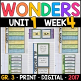 Wonders 3rd Grade, Unit 1 Week 4: All Aboard! Supplements with GOOGLE Classroom