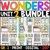 Wonders 3rd Grade Unit 2 BUNDLE: Interactive Notebook Pages and Supplements