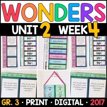 Wonders 3rd Grade, Unit 2 Week 4: Whooping Cranes in Danger Supplements